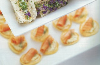 Smoked Salmon And Baby Ricotta Pikelets
