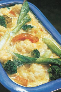Blue Cheese Clafoutis With Winter Vegetables