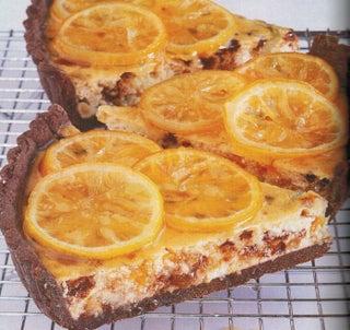 Lemon Jewel Ricotta Tart