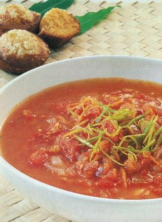 Chunky Lime And Tomato Soup