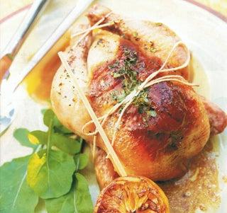 Lemon Thyme Roasted Poussins