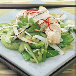 Poached Chicken And Coconut Salad