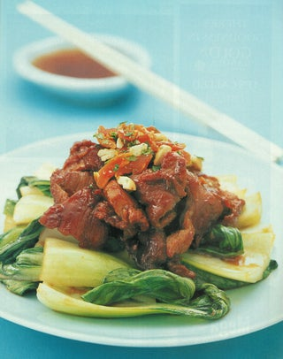 Barbecued Pork On Shanghai Cabbage