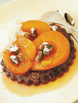 Apricot And Chocolate Tarts
