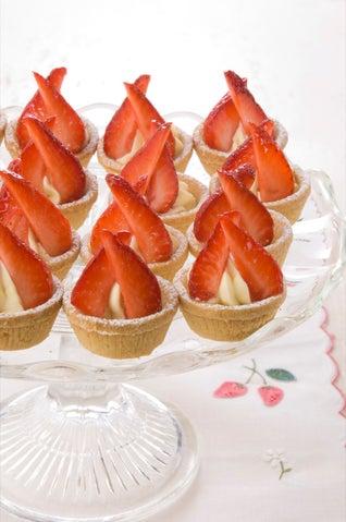 Merlot Soaked Strawberry Tarts