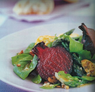 Roasted Beetroot And Haloumi Cheese Salad