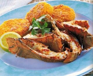Y2k Bugs With Crispy Saffron Risotto Cakes