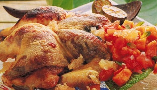 Roast Chicken With Soy And Lime Glaze