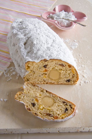 Stollen With Papaya And Rose-scented Marzipan
