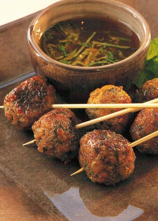 Mini Thai Lamb Meatballs With Mint Sauce