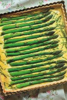 Asparagus and cream tart