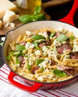 Beef And Blue Cheese On Pasta