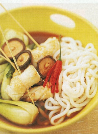 Sesame Grilled Squid On Noodles