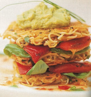 Pasta Crab Cakes With Thai Avocado Spread