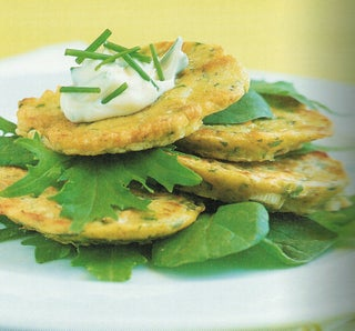 Courgette Fritters With Wasabi Mayonnaise