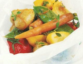 Maple Glazed Vegetable Parcels
