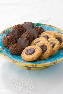 Chocolate Button Biscuits