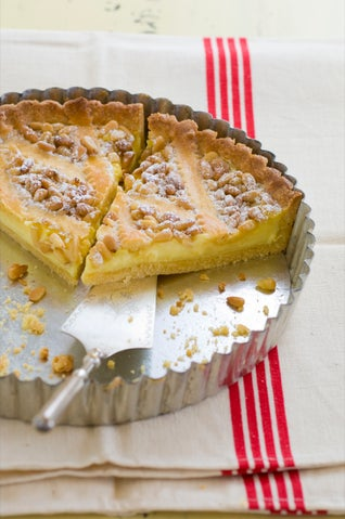 Pinenut And Lemon Curd Pie