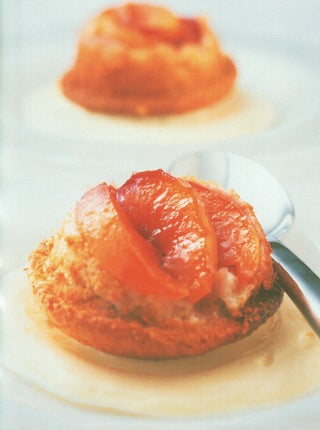 Peach Or Apricot Coconut Upside-down Muffins
