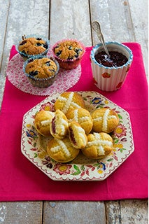 Blueberry And Coconut Friands