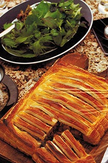 Pumpkin And Lentil Jalousie With Coriander And Lime Dressing